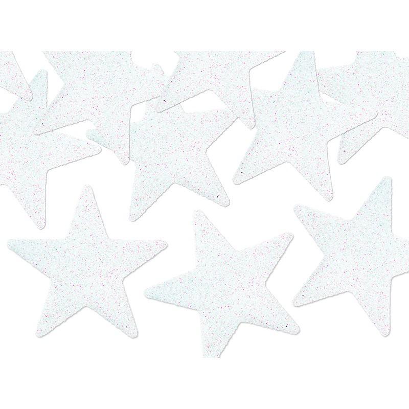 Bordpynt Stjerner Hvid 8 stk.