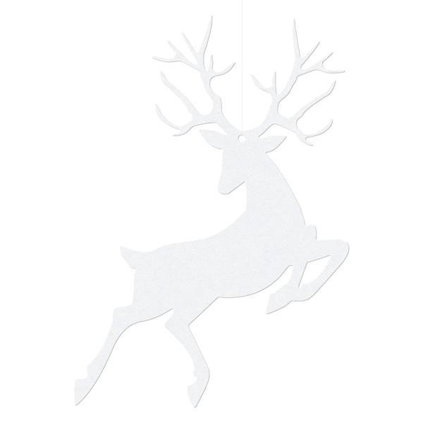 Ophæng/Bordkort Rensdyr Hvid