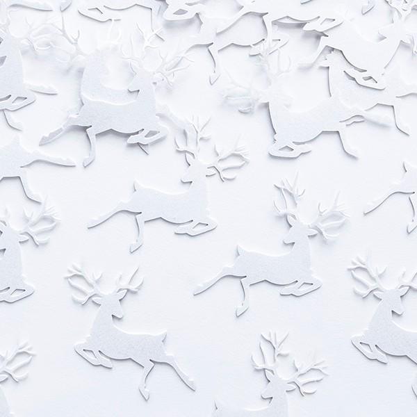 Konfetti Rensdyr Hvid