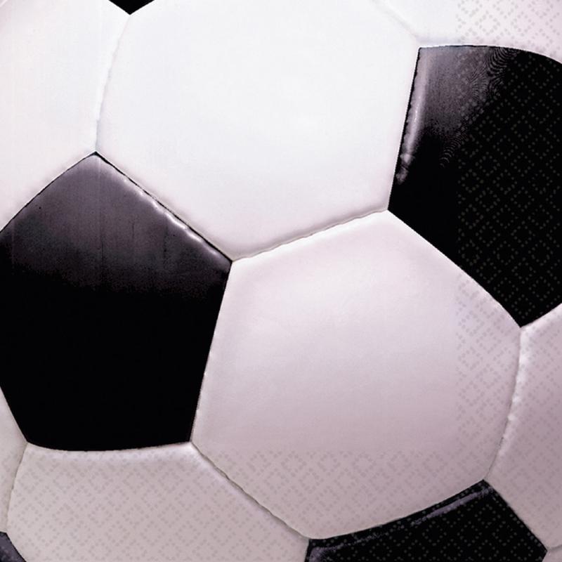 Servietter med fodbold