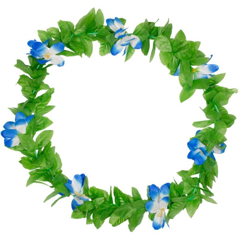 Blomsterkrans med blå blomster