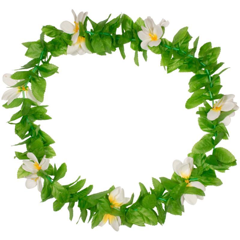 Blomsterkrans med hvide blomster