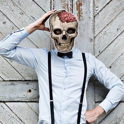 Hul i hovedet maske