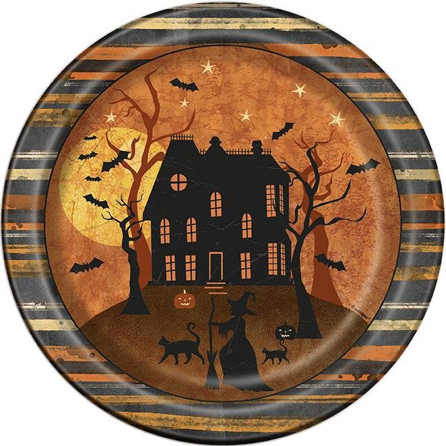 Haunted House Paptallerkner