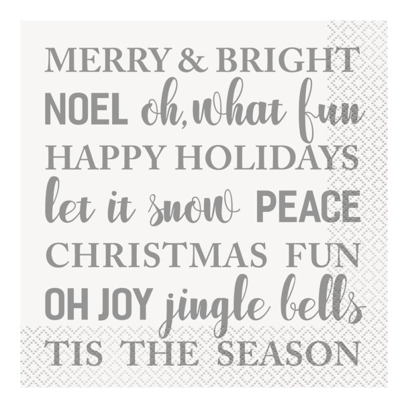 Merry & Bright Juleservietter