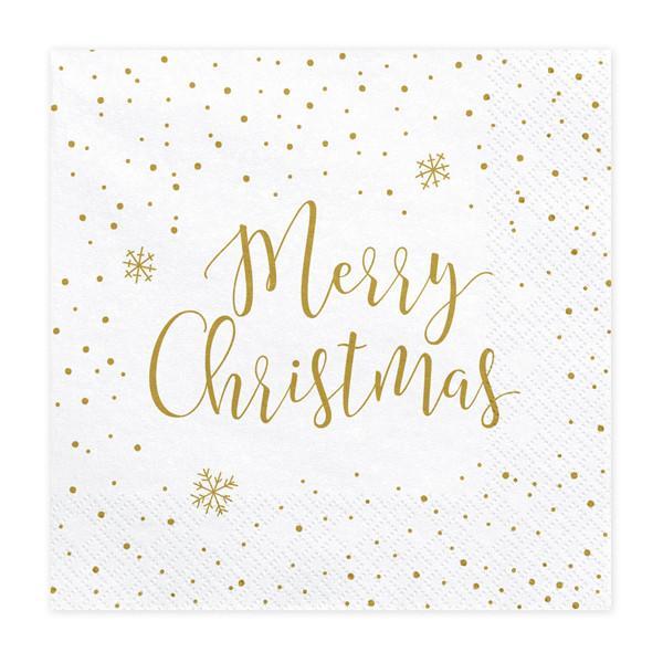 Merry Christmas Juleservietter