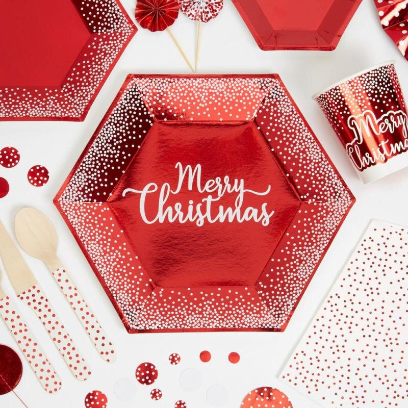 Merry Christmas Paptallerken