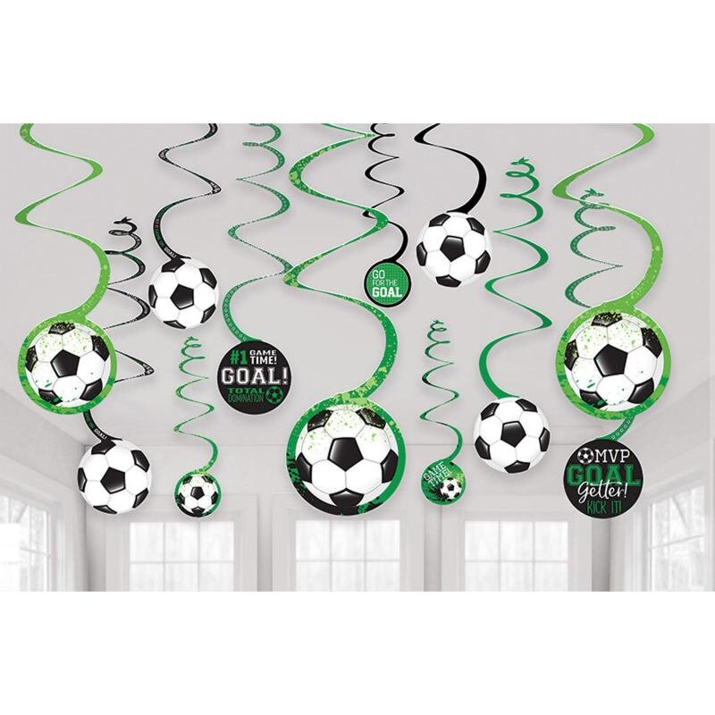 Fodbold Swirls 12 stk.