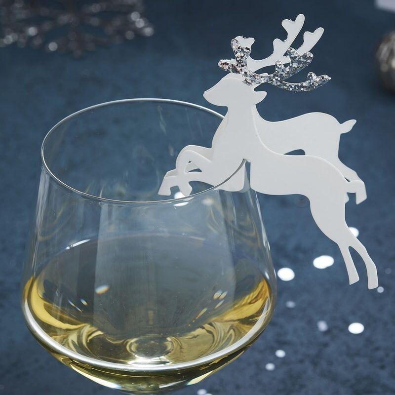 Bordkort Jul Rensdyr Sølv