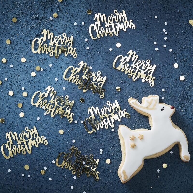 Konfetti Merry Christmas Guld