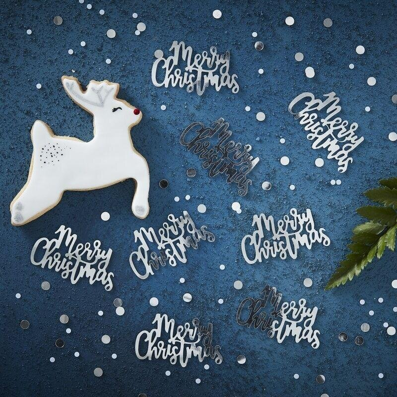 Konfetti Merry Christmas Sølv