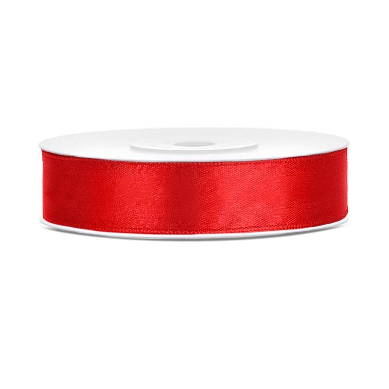 Rødt Satinbånd 25 Meter