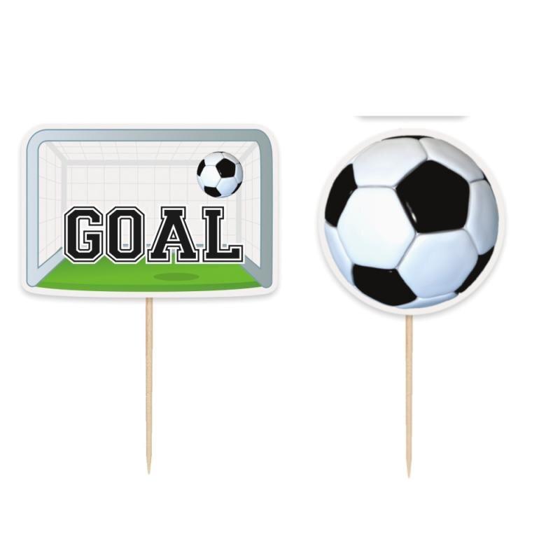 Fodbold Cupcake Toppers 6 stk.