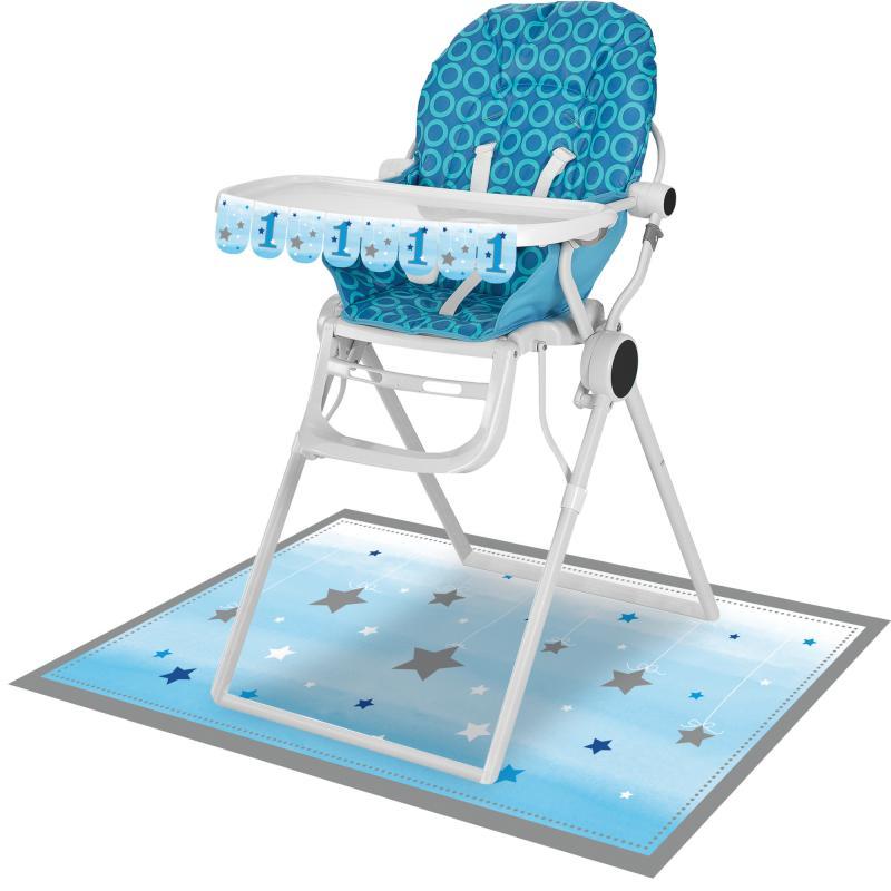 Lille stjerne blå, Dekoration til højstol, 1 års fødselsdag