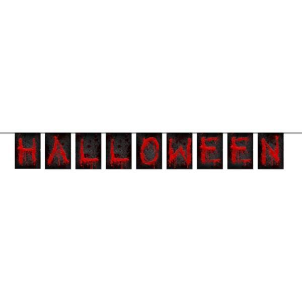 Halloween banner, Blodige bogstaver