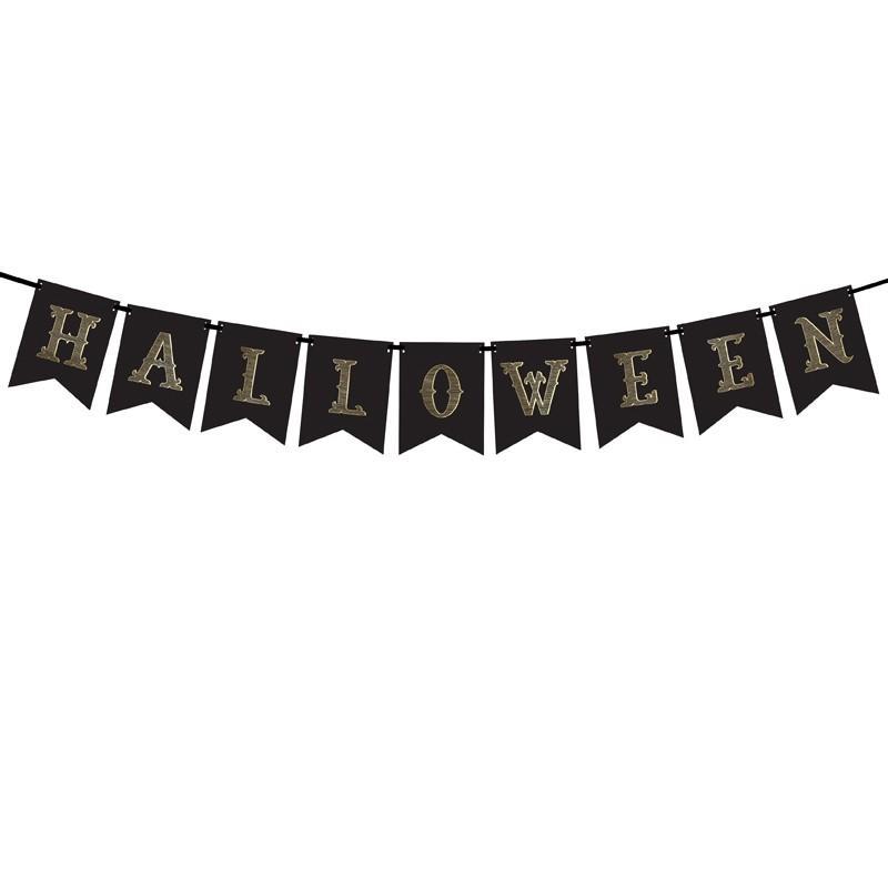Halloween banner, Guldbogstaver