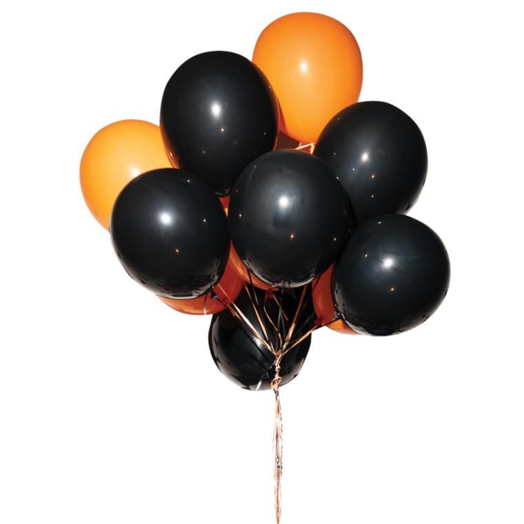 Halloween ballonmix, sort og orange