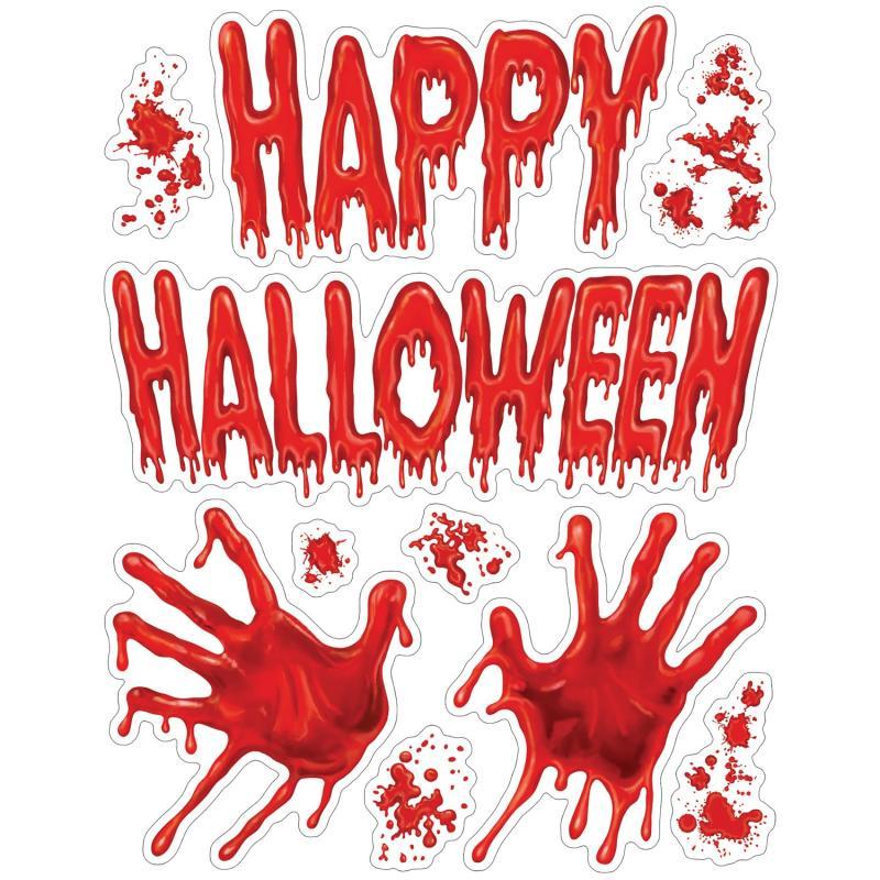 Halloween vinduesdekoration, Blodige hænder